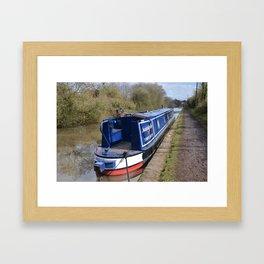 Narrowboat Indefatigable Framed Art Print