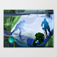 hockey Canvas Prints featuring Hockey by Tami Cudahy