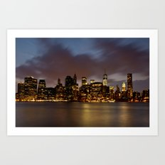 Downtown New York City Art Print