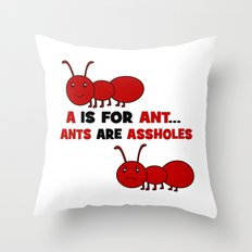 A is For Ant Throw Pillow
