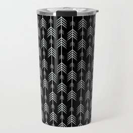 Arrows pattern - Black Travel Mug