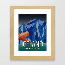 Iceland Air Framed Art Print