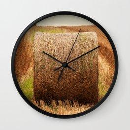 Hay Bale Symmetry Wall Clock
