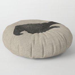 Black Bear Silhouette Floor Pillow