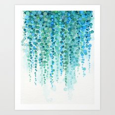 String of Pearls Watercolor Art Print