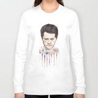 castiel Long Sleeve T-shirts featuring Castiel by mycolour