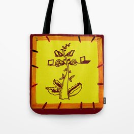tree with a computer , telephone and other device . https://society6.com/vickonskey/s?q=popular+prin Tote Bag