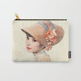 Audrey Hepburn - Eliza Doolittle - Watercolor Carry-All Pouch