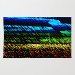 Sunset Over The Grassy Fields Rug