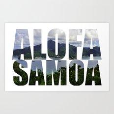 Alofa Samoa Art Print