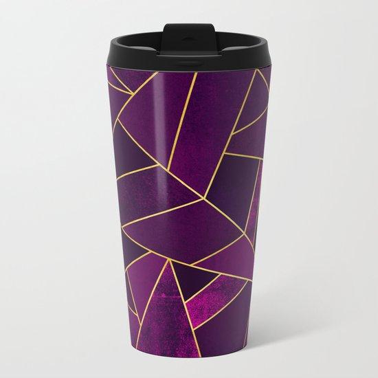 Purple Stone Metal Travel Mug
