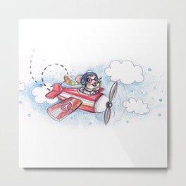 Pilote Mouse Metal Print