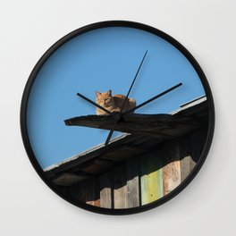 Walk the plank ye kitty Wall Clock