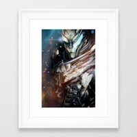 garrus Framed Art Prints featuring Garrus Vakarian by Alba Palacio