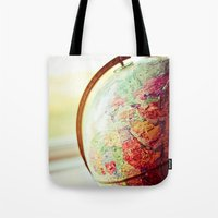 globe Tote Bags featuring Globe  by Jo Bekah Photography