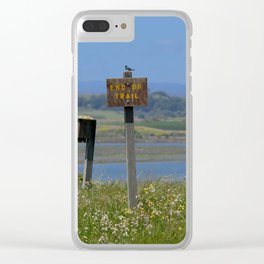 end of trail Clear iPhone Case