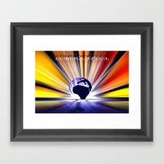 Luminous flux. Framed Art Print