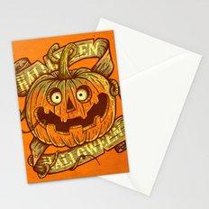 Halloween orange Stationery Cards