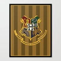 hogwarts Canvas Prints featuring Hogwarts by Winter Graphics
