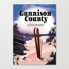 Gunnison County Colorado Ski Canvas Print