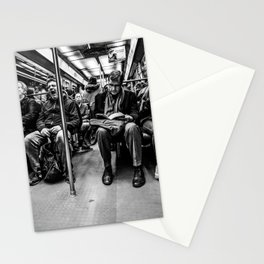 Parisian Commuters Stationery Cards