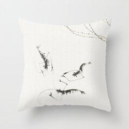 Summer shrimp Throw Pillow