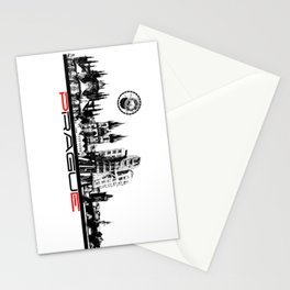 Prague black and white Stationery Cards