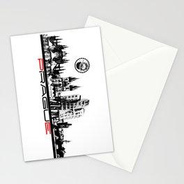 Prague black and white Stationery Cards