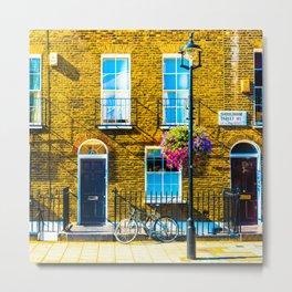 London Terraced Houses Metal Print