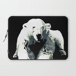 Vintage vector Zoo ad Basel polar bear Laptop Sleeve