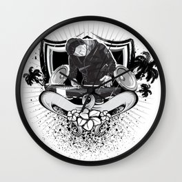 Dj Beach Wall Clock