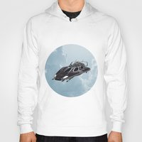 spaceship Hoodies featuring Spaceship by Design Windmill
