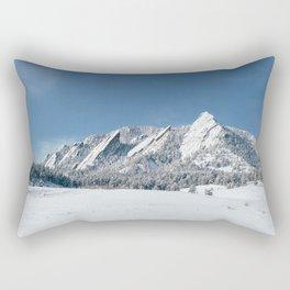 Snowy Flatirons Rectangular Pillow
