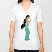 jasmine V-neck T-shirts featuring Jasmine by Eva Duplan Illustrations