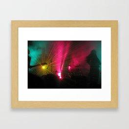 STRFCKR concert lasers Framed Art Print