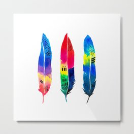 Tropical Quills Metal Print