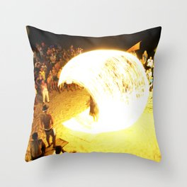 Fire Chamber 2 Throw Pillow