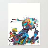 tank girl Canvas Prints featuring Tank Girl by Art By MOP$