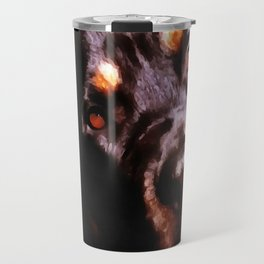 Rottweiler Dog Artistic Pet Portait Travel Mug