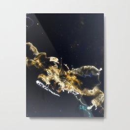 Golden Galaxy Metal Print