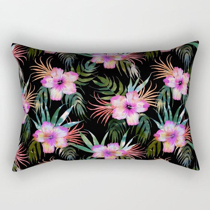 Honolua Tropic Black Rectangular Pillow