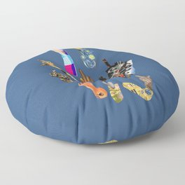 Artists Middle Fingers Floor Pillow