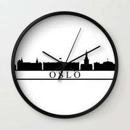skyline oslo Wall Clock