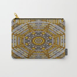 Mandala pattern with metal Carry-All Pouch