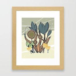 Vintage Retro Garden Framed Art Print