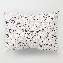 'Speckle Party' Pink Black White Dots Speckle Terrazzo Pattern Pillow Sham