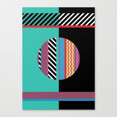Geometric Full Moon Canvas Print