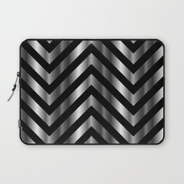 High grade raw material stainless steel and black zigzag stripes Laptop Sleeve