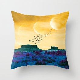 Thirst Desert Throw Pillow