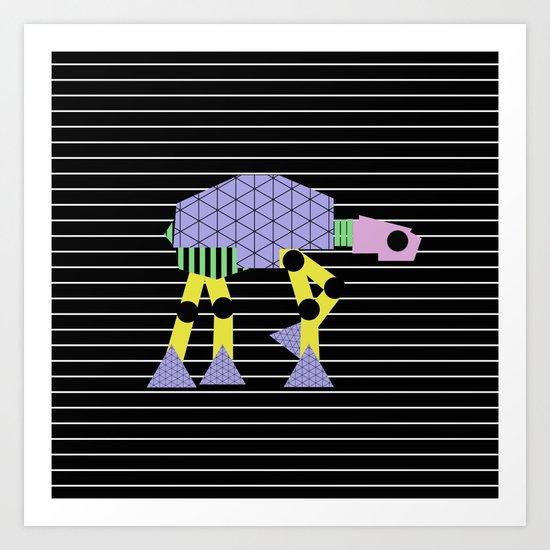 Geometric AT-AT Walker (Pastel Shapes Artwork - Cult Film) Art Print
